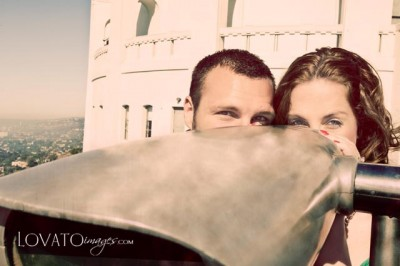 orange county engagement portraits